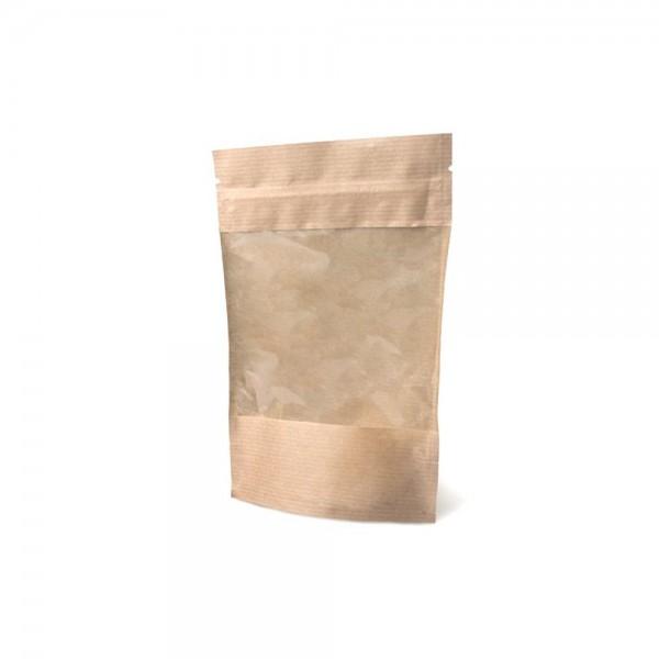 Зип-пакет крафтовый с окошком