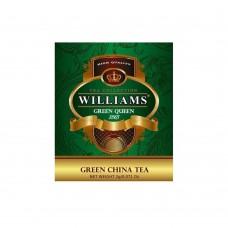"""WILLIAMS """"Green Queen"""" пакетированный зеленый чай Те Гуань Инь в фольгированных конвертах 2г*50пак"""