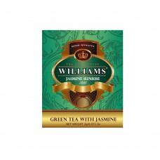 """WILLIAMS """"Jasmine Sunrise"""" пакетированный зеленый китайский премиальный чай с тонкими нотами жасмина в фольгированных конвертах 2г*50пак"""